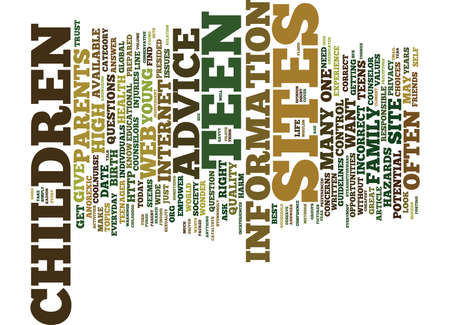 TEEN ADVICE ON LINE Text Background Word Cloud Concept