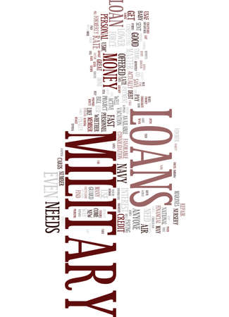 MILITARY LOANS A BRIEF SYNOPSIS Text Background Word Cloud Concept