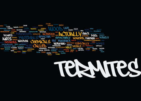 TERMITES Text Background Word Cloud Concept