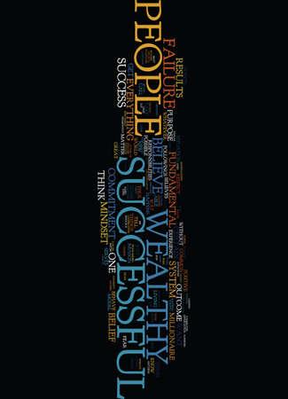 MINDSET DER ERFOLGREICHEN UND GERECHTEN MENSCHEN Text-Hintergrund-Wort-Wolken-Konzept Standard-Bild - 82682956