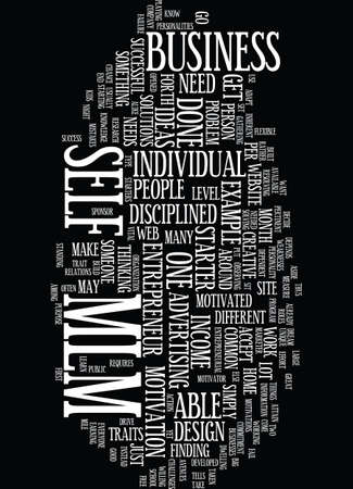 able to learn: MLM Text Background Word Cloud Concept