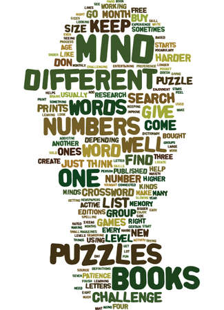 MINDPUZZLESINBOOKS Text Background Word Cloud Concept