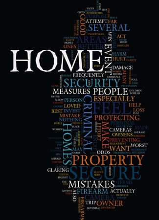 MISTAKES IN HOME SAFETY Text Background Word Cloud Concept Illustration