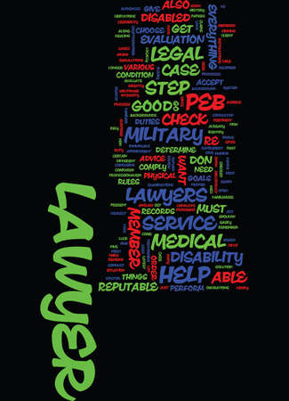 MILITARY LEGAL HELP FOR DISABILITY CASE Text Background Word Cloud Concept Illustration