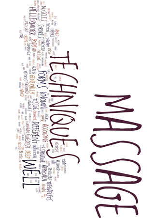 TECHNIQUES OF MASSAGE Text Background Word Cloud Concept Ilustrace