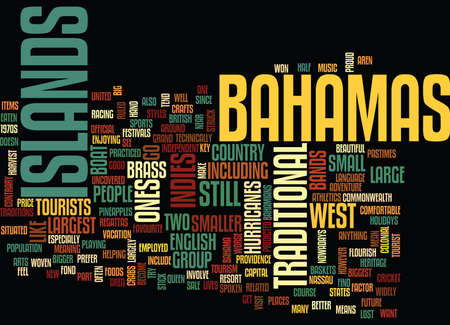 THE BAHAMAS UNCOVERED Text Background Word Cloud Concept Reklamní fotografie - 82682990