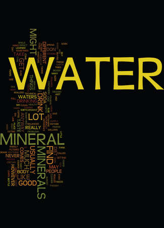MINERAL WATER Text Background Word Cloud Concept Ilustração