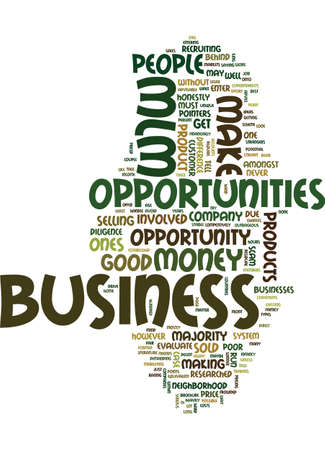 demanding: MLM BUSINESS OPPORTUNITIES ARE THERE ANY GOOD ONES Text Background Word Cloud Concept