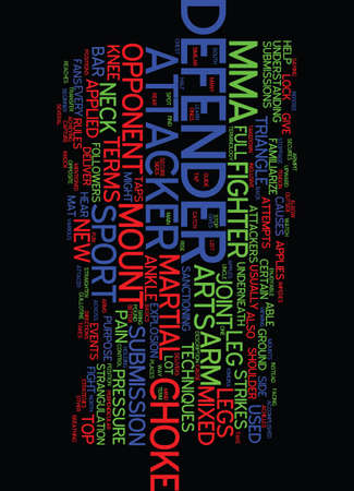 MIXED MARTIAL ARTS LEARN THE TERMS Text Background Word Cloud Concept