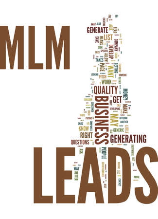 MLM LEADS Text Background Word Cloud Concept