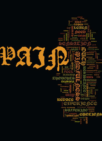 ouch: MINDFULNESS AND PAIN JUST SAY OUCH Text Background Word Cloud Concept