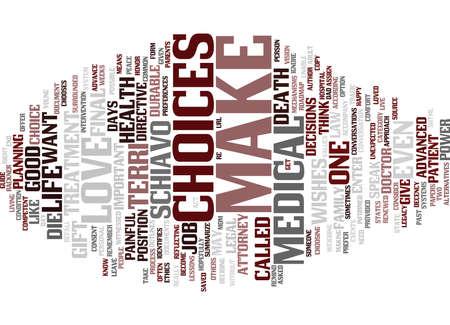 TERRI SCHIAVO S GIFT Text Background Word Cloud Concept
