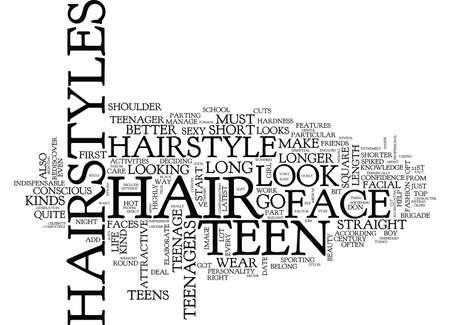 TEEN HAIR STYLES Text Background Word Cloud Concept Иллюстрация