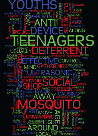 MIND CONTROL OVER TEENAGES Text Background Word Cloud Concept 일러스트
