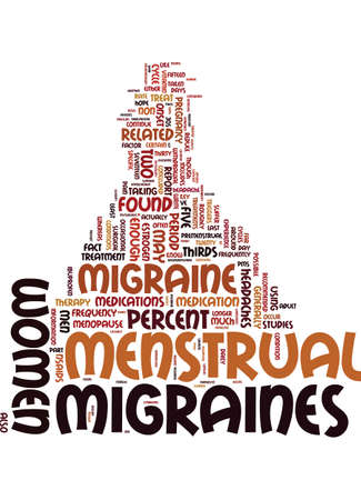 MIGRAINES AND WOMEN Text Background Word Cloud Concept