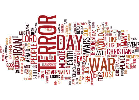 TERROR THE LOST WAR Text Background Word Cloud Concept Illustration