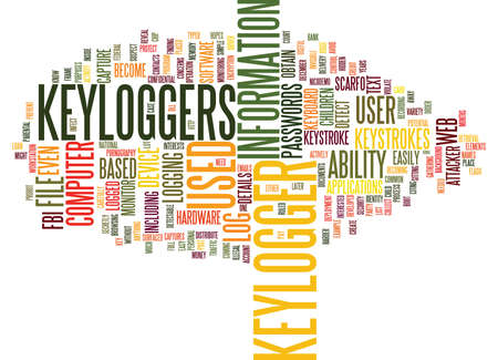 THE ADVANCEMENT OF THE KEYLOGGER Text Background Word Cloud Concept