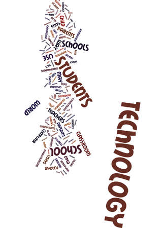 initiatives: TECHNOLOGY IN THE CLASSROOM Text Background Word Cloud Concept