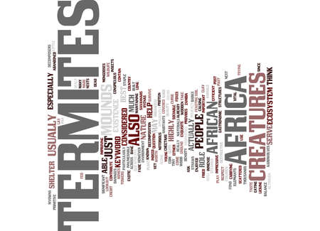 TERMITES IN AFRICA Text Background Word Cloud Concept