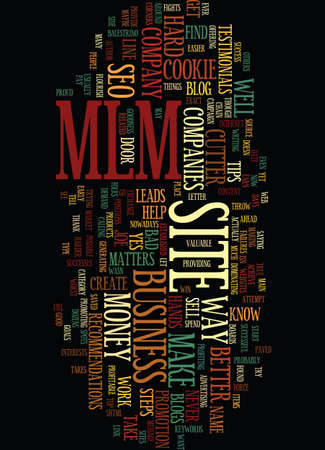MLM AND SEO BAD BUSINESS NO BUSINESS Text Background Word Cloud Concept