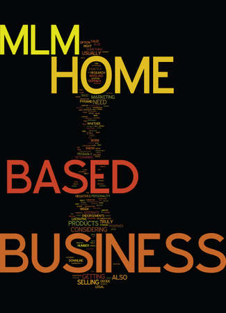 MLM HOME BASED BUSINESS Text Background Word Cloud Concept