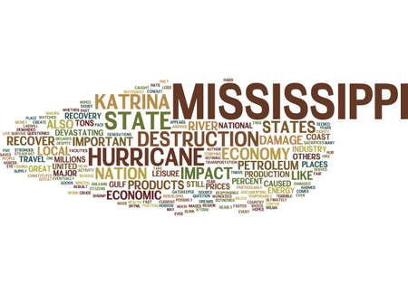 MISSISSIPPI S RECOVERY FAST AND STEADFAST Text Background Word Cloud Concept