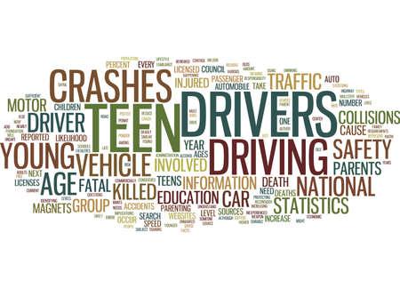 TEEN-FAHRER-STATISTIK-Text-Hintergrund-Wort-Wolken-Konzept