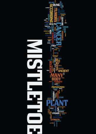 MISTLETOE Text Background Word Cloud Concept Vettoriali
