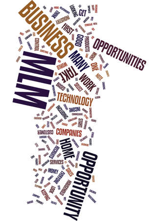 MLM OPPORTUNITY Text Background Word Cloud Concept