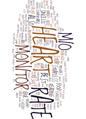 MIO HEART RATE MONITOR STORY Text Background Word Cloud Concept