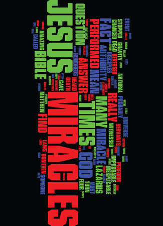 MIRACLES WHAT THE BIBLE HAS TO SAY ABOUT THEM Text Background Word Cloud Concept