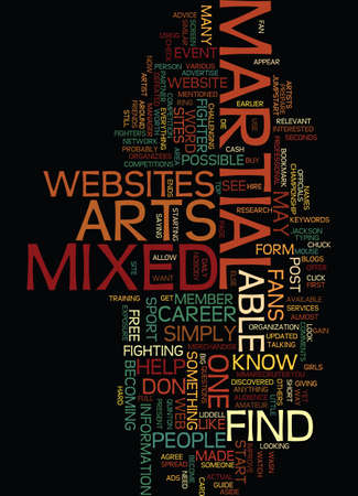 aside: MIXED MARTIAL ARTS THROUGH THE WEB Text Background Word Cloud Concept