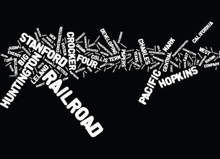 THE BIG FOUR Text Background word cloud concept Illustration
