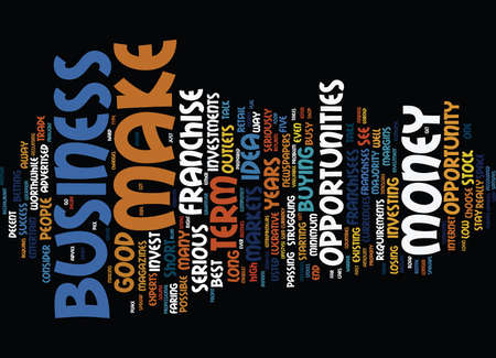 THE BEST BUSINESS OPPORTUNITIES FOR ENTREPRENEURS Text Background Word Cloud Concept