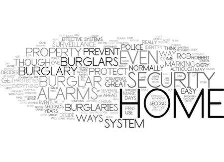 THE BEST WAYS TO PREVENT BURGLARY BROUGHT BY NICHEBLOWERCOM Text Background Word Cloud Concept Illustration