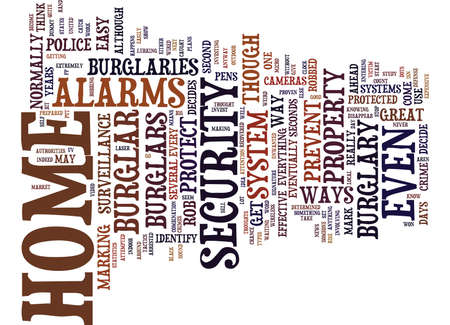 THE BEST WAYS TO PREVENT BURGLARY Text Background Word Cloud Concept Illustration