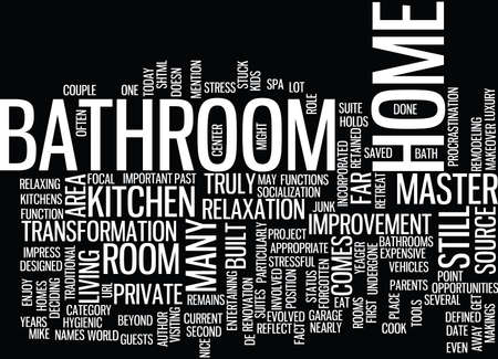 THE BATHROOM THE FORGOTTEN AREA OF YOUR HOME Text Background Word Cloud Concept