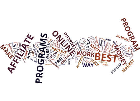 THE BEST WAY TO MAKE CASH ONLINE Text Background Word Cloud Concept