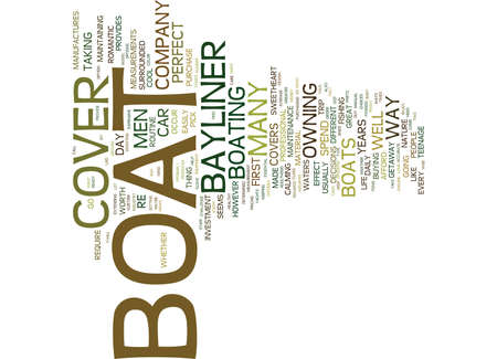 THE BAYLINER BOAT COVER AND MAINTENANCE Text Background word cloud concept Banco de Imagens - 82738954