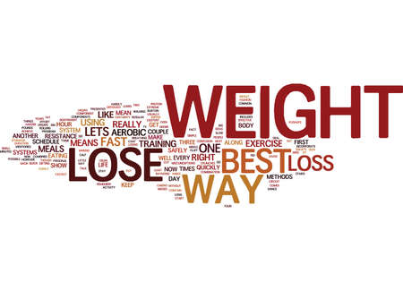 THE BEST WAY TO LOSE WEIGHT Text Background Word Cloud Concept