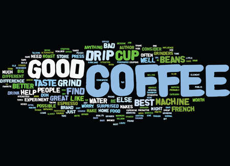 ドリップ コーヒーのテキスト背景単語雲概念の最高のカップ