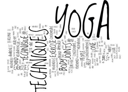 contemplate: THE BEST YOGA TECHNIQUES IS NOT TO CONTEMPLATE BUT CONCENTRATE Text Background Word Cloud Concept Illustration