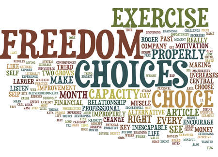 THE BIG KEY TO FREEDOM Text Background Word Cloud Concept