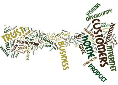 THE BEST WAY TO DEVELOP A CUSTOMER Text Background Word Cloud Concept