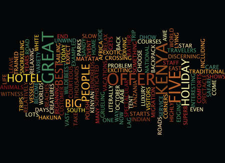 THE BIG FIVE Text Background Word Cloud Concept