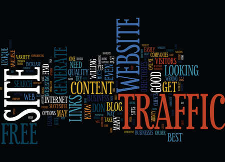 the best website traffic is free website traffic text background