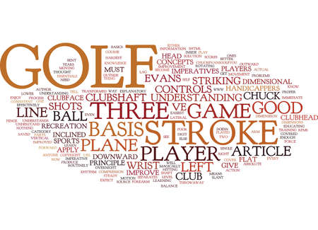 THE BASIS OF GOLF Text Background Word Cloud Concept