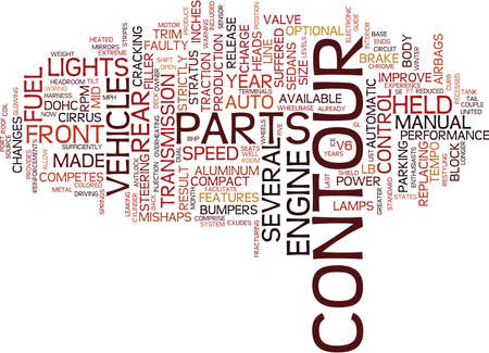 THE CONTOUR YEARS Text Background Word Cloud Concept