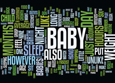 YOUR BABY S GROWTH AND DEVELOPMENT Text Background Word Cloud Concept