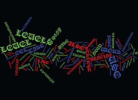 LEVELS Text Background Word Cloud Concept